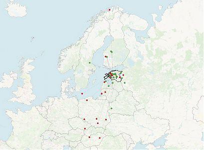 Eestis rõngastatud kaljukotkaste taasleiud